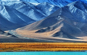 Pamir Mountains, nature, valley, Tajikistan, hill, mountain