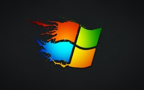 simple background, Microsoft Windows, paint splatter, Windows 7