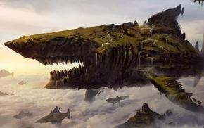 shark, fantasy art, artwork