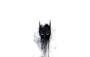 digital art, DC Comics, minimalism, black, mask, simple