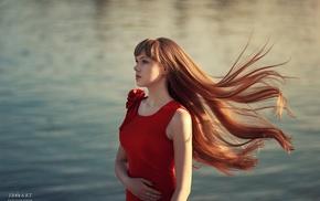 portrait, girl, redhead, face