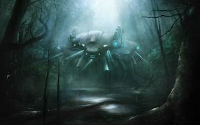 science fiction, mech, artwork