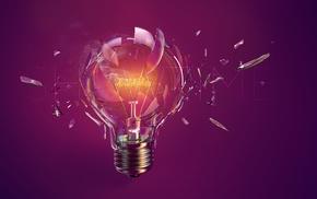 lightbulb, digital art