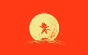 Son Goku, moon, saiyan, moonlight, Kid Goku, Dragon Ball Z