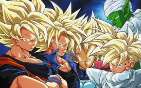 Piccolo, Trunks character, Vegeta, Dragon Ball Z, Gohan, Super Saiyan