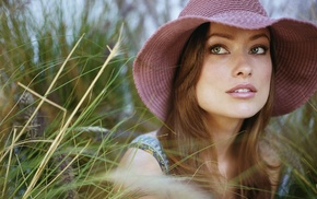 girl, brunette, actress, face, Olivia Wilde, celebrity
