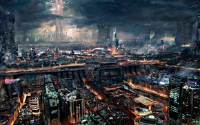 city, science fiction, cyberpunk