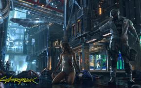 Cyberpunk 2077, futuristic, cyberpunk