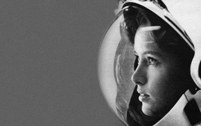 face, girl, spacesuit, Anna Lee Fisher, astronaut
