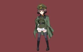 anime, Nazi, anime girls, Girls und Panzer, Akiyama Yukar