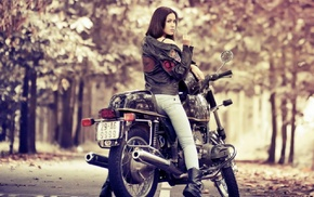 motorcycle, girl