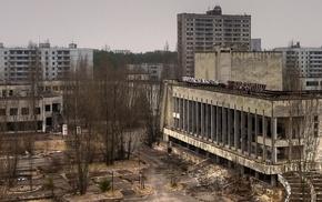 apocalyptic, destruction, abandoned, Chernobyl, Pripyat