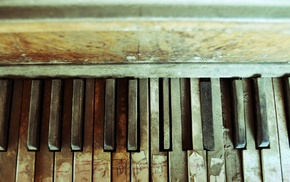 piano, texture, music, abandoned, old