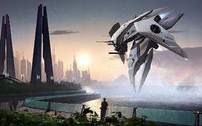 artwork, science fiction, digital art, futuristic