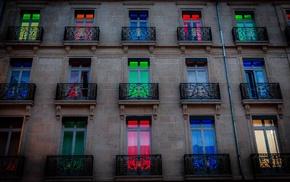 colorful, door, building, Hotel Dijon