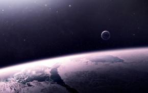 ice, space, stars, atmosphere, digital art, space art