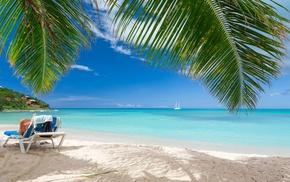 sea, sand, Vacations, tropical, beach, landscape