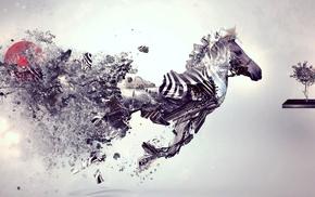 abstract, zebras, animals