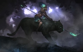 fantasy art, Smite, warrior, Awilix