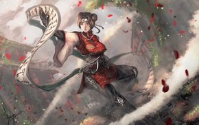 fantasy art, Tenten, Naruto Shippuuden, Kunoichi, scrolls