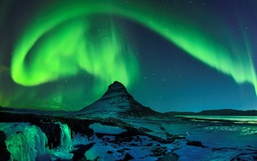aurorae, mountain