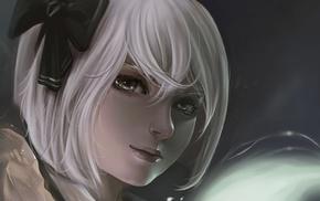 Touhou, drawing, Konpaku Youmu, white hair, anime girls, anime