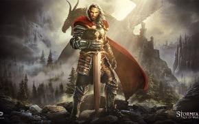 artwork, video games, sword, digital art, fantasy art, warrior