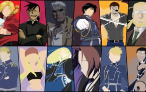 Elric Edward, Full Metal Alchemist, minimalism, Rockbell Winry, anime