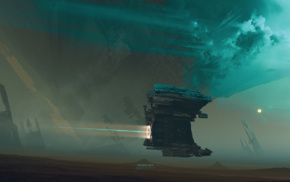 science fiction, futuristic, Kuldar Leement