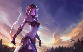 elves, fantasy art, World of Warcraft