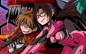 anime girls, Asuka Langley Soryu, Neon Genesis Evangelion, Makinami Mari Illustrious