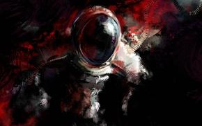 dark, artwork, digital art, astronaut