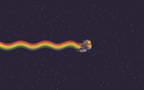 digital art, rainbows, Nyan Cat
