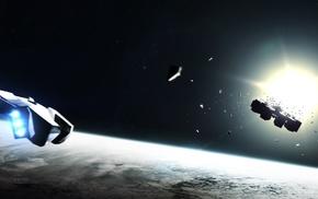 Interstellar movie, artwork, science fiction