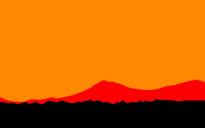 digital art, orange background, sunset, minimalism, orange, artwork