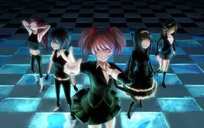 anime girls, anime, Mahou Shoujo Madoka Magica, Tomoe Mami, Kaname Madoka, Akemi Homura