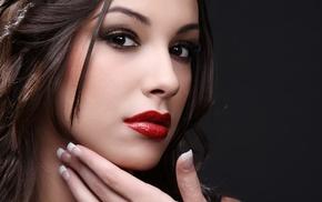 girl, model, juicy lips