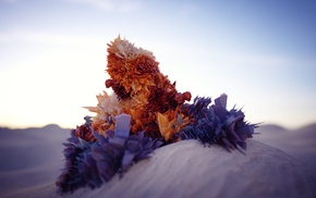 abstract, crystal, sand