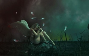 angel, artwork, fantasy art