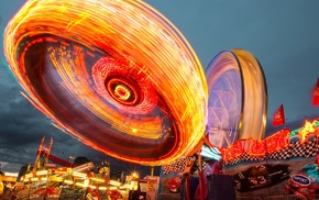 light painting, theme parks, long exposure, ferris wheel
