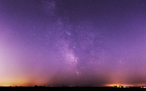 Milky Way, night, landscape, sunset