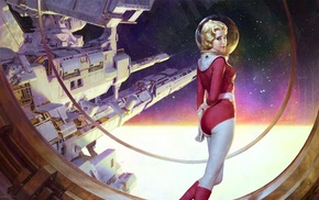 astronaut, artwork, science fiction