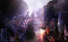 artwork, fantasy art, digital art, surreal, plants