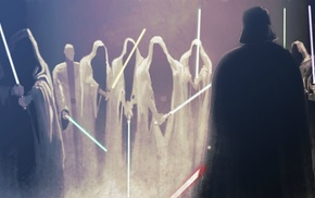 Darth Vader, sky walker, Obi, Wan Kenobi, lightsaber, Star Wars