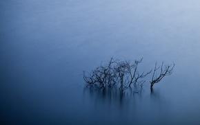 minimalism, blue, simple, black