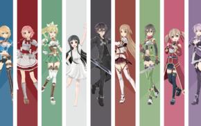 Shinozaki Rika, Kirigaya Suguha, Asada Shino, Sword Art Online, Kirigaya Kazuto, Yui