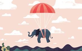 digitalocean, elephants, minimalism