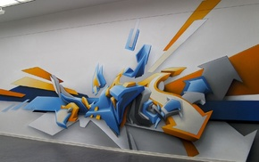 graphic design, abstract, 3D, graffiti, Daim