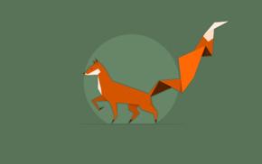 minimalism, vectors, fox