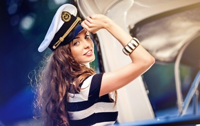 striped, sailor, sailors, T, shirt, blue eyes